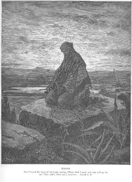 """The Prophet Isaiah,"" by Gustave Dore, Public Domain"
