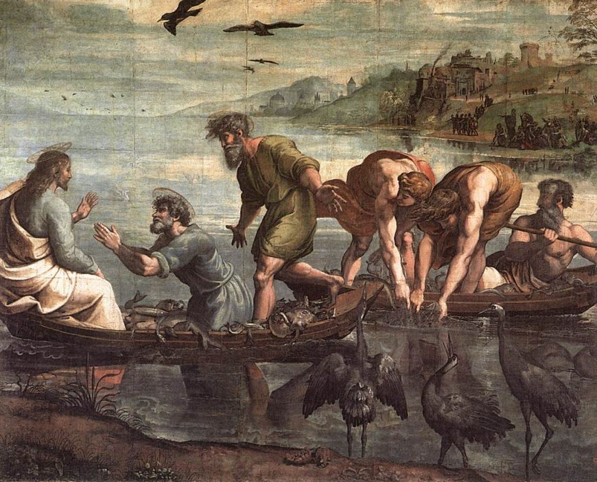 Raphael, The Miraculous Draught of Fishes, 1515 (on Wikimedia Commons)