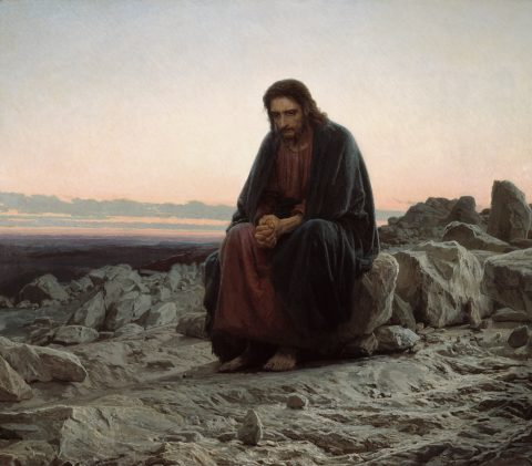 Christ in the Wilderness by Ivan Kramskoi, 1872, oil on canvas; image from Google Cultural Institute